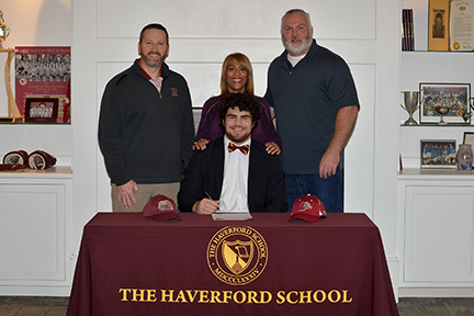 Colin Hurlbrink signs National Letter of Intent to play football for Lafayette College