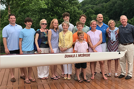 Rowing shells christened in honor of legendary Heads of Upper School