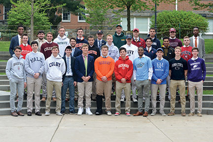 Haverford School student-athletes playing sports at colleges and universities