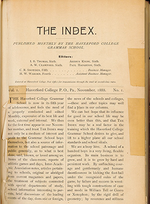 The Haverford School Index student newspaper