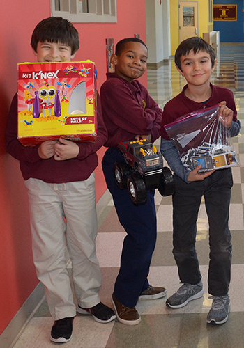 Third grade used toy sale at The Haverford School