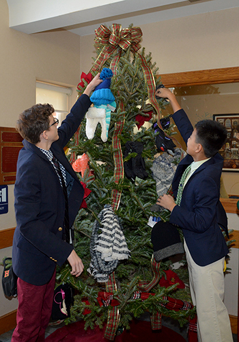 The Haverford School holiday service project