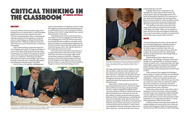 critical thinking at The Haverford School
